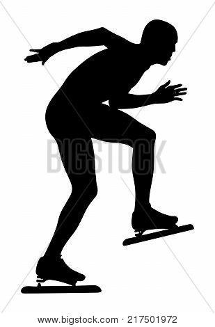 speedskater athlete in speed skating ice arena