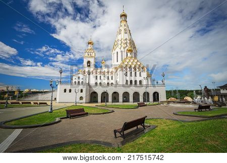 All Saints Church In Minsk Belarus. Minsk memorial church of All Saints and in memory of the victims which served as our national salvation