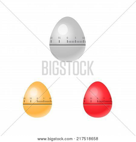 Vector illustration of Egg timers various colors