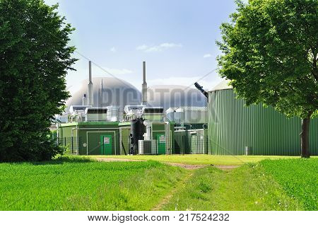 Green view on a bio fuel plant.