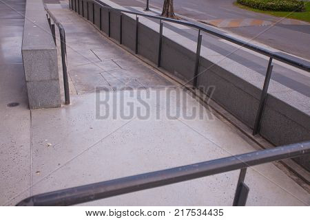 Disabled ramp access to building for disable people
