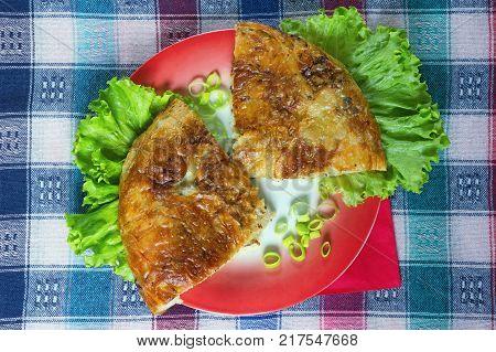 Burek with meat - national dish popular in the Balkans