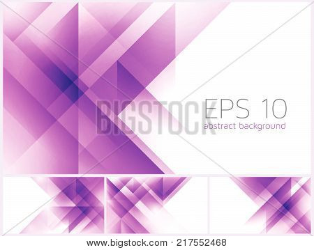 Triangle and fractal abstract background vector series. Suitable for your design element and background