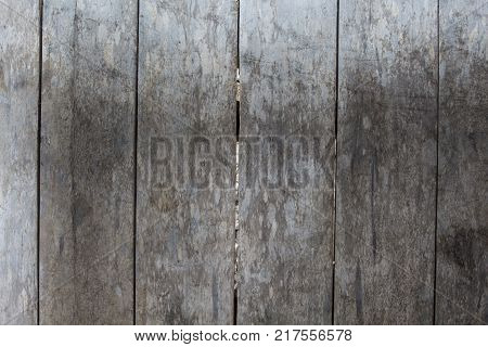 Weathered grey wooden floor photo background. Rustic wood plank closeup. Silver wooden background. Boho design. Timber texture. Shabby chic banner template. Obsolete timber table. Wooden flat lay