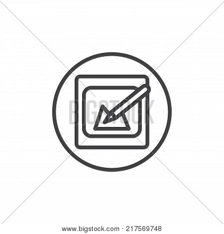 Edit picture line icon, outline vector sign, linear style pictogram isolated on white. Symbol, logo illustration. Editable stroke