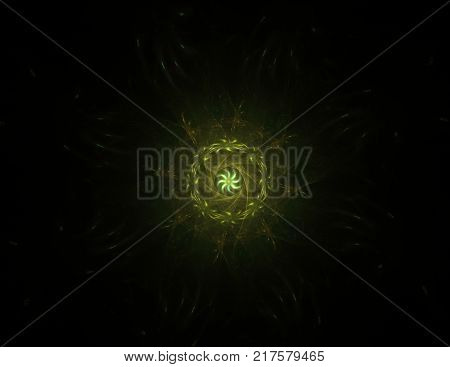 Colorful Glowing Neuron Fractal