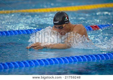 Fabio Scozzoli (italy) At European Swimming Championships Len 2010