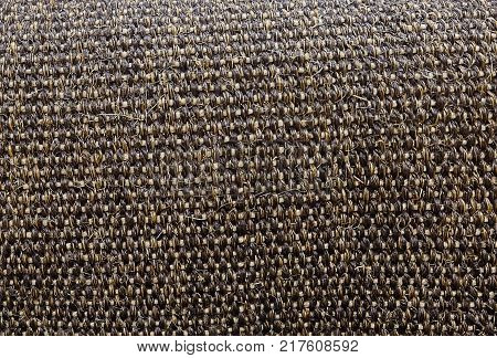 Background Pattern Dark Brown Handicraft Weave Texture Wicker Surface for Furniture Material.