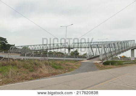 concrete bridge on high way road at thailand