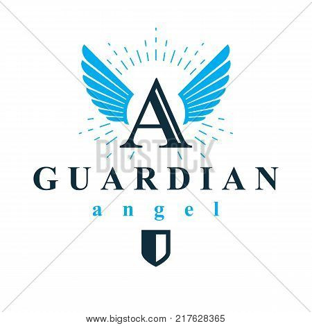 Holy spirit graphic vector logo for use in educational and religious organizations.