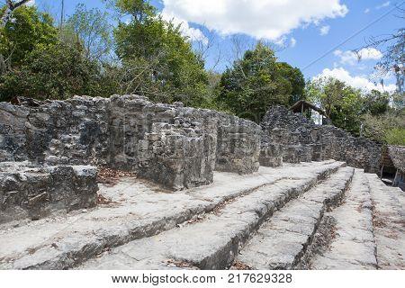 Ruins of Coba - ancient Mayan city on the Yucatán Peninsula Mexican state of Quintana Roo