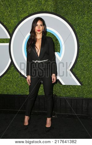 LOS ANGELES - DEC 7:  Adria Arjona at the 2017 GQ Men of the Year at the Chateau Marmont on December 7, 2017 in West Hollywood, CA