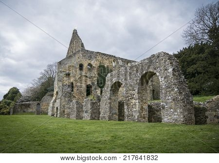 BATTLE, SUSSEX, UK, 13TH APRIL 2017 - Battle Abbey built on the site of the Battle of Hastings Battle Sussex UK