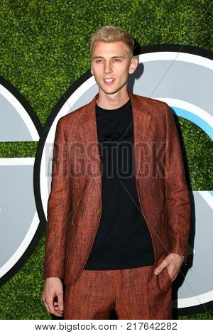 LOS ANGELES - DEC 7:  Machine Gun Kelly, Richard Colson Baker at the 2017 GQ Men of the Year at the Chateau Marmont on December 7, 2017 in West Hollywood, CA