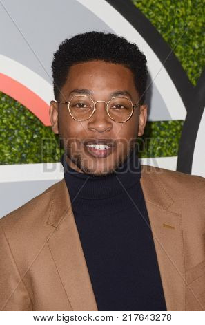 LOS ANGELES - DEC 7:  Jacob Latimore at the 2017 GQ Men of the Year at the Chateau Marmont on December 7, 2017 in West Hollywood, CA