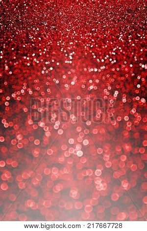 Elegant dark black red glitter sparkle confetti background or party invite for happy birthday banner, bridal wedding evening, Valentines Day love beauty, Christmas card or New Year's Eve night bokeh