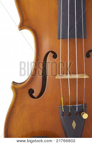 Violin Viola Isolated On White Background