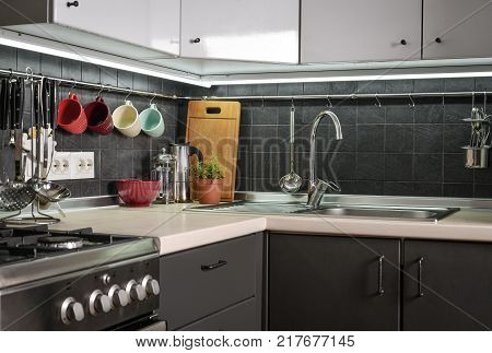 A Fragment Of The Modern Style Kitchen