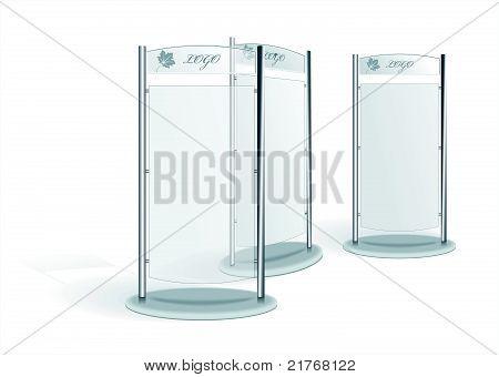 Vector  Glass Billboard