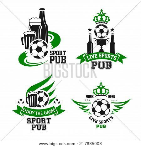 Soccer Ball Beer Vector Photo Free Trial Bigstock