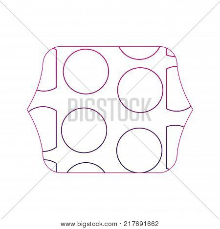 color edge quadrate with memphis geometric figure background vector illustration