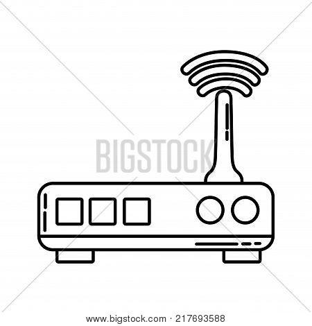 line router digital wifi technology network vector illustration