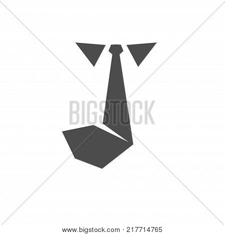 Tie icon vector solid logo illustration pictograph isolated on white. Job interview and hunting career and resume job seeker vector