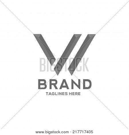 Letter W strong logo vector illustration template, letter W trend logo vector, creative Letter W letter logo