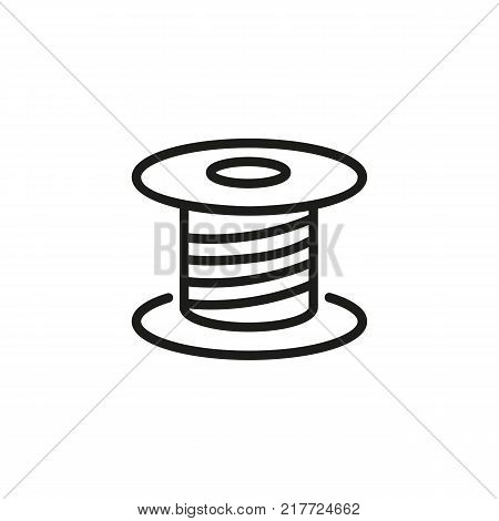 Line Icon Spool. Sewing, Thread, Vector & Photo | Bigstock