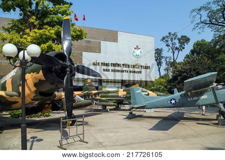 Army Plane Us Air Force Near Saigon Remnants Museum Captured During The War