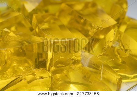 Abstract Jelly Golden Sweet Marmalade Yellow Fresh poster