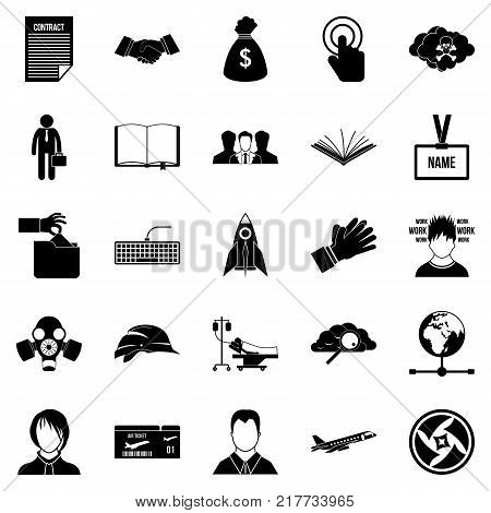 Clerk icons set. Simple set of 25 clerk vector icons for web isolated on white background