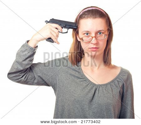 Woman With Pistol.