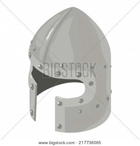 Helmet knight military icon. Isometric illustration of helmet knight military vector icon for web