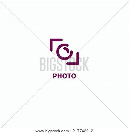Icon camera, photography. Logo photographic studio. Vector illustration