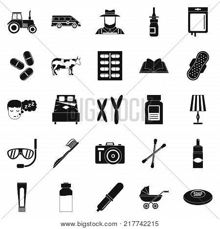 Child education icons set. Simple set of 25 child education vector icons for web isolated on white background