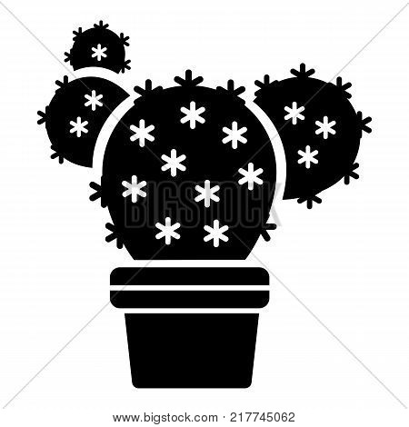 Eared cactus icon. Simple illustration of eared cactus vector icon for web