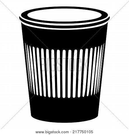 Rubbish bin icon. Simple illustration of rubbish bin vector icon for web