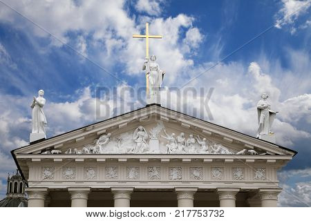 St. Stanislaus and St Ladislaus cathedral in Vilnius, Lithuania