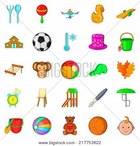 Plaything icons set. Cartoon set of 25 plaything vector icons for web isolated on white background