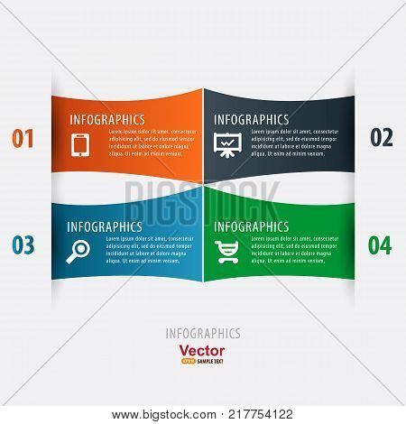 Business infographics, design template and vector illustration