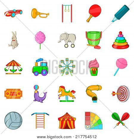 Bauble icons set. Cartoon set of 25 bauble vector icons for web isolated on white background