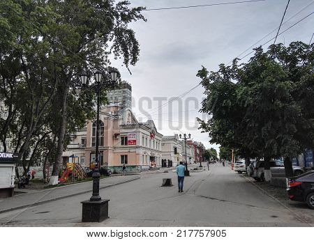 Perm, Russia, June 2017. The project is traveling in Russia. Walking street in Perm, Central part of city.