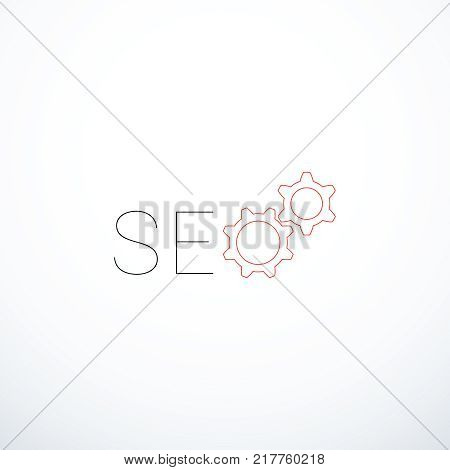Vector SEO icon. SEO concept. Vector illustration