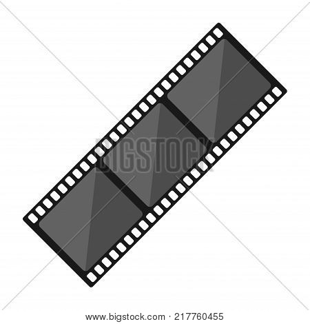 Film strip isolated on white background. Watch movie in the cinema vector illustration
