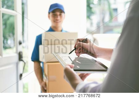 Delivery, Mail, People And Shipping Concept.