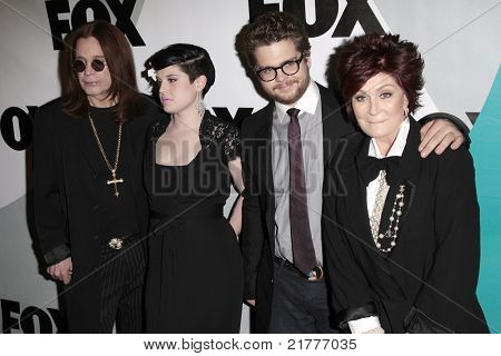 LOS ANGELES - JAN 13: Ozzy Osbourne, Kelly Osbourne, Jack Osbourne and Sharon Osbourne at the Fox Winter All-Star Party in Los Angeles, California on January 13, 2009