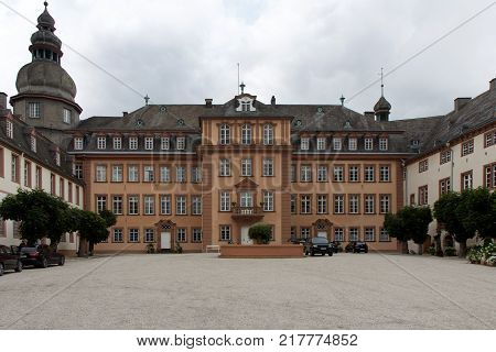 A castle in Sauerland (big house) in Germany