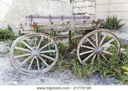 Rotting Wooden Wagon Turkey