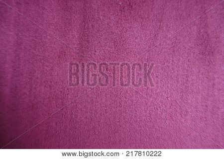 Napped velvety fabric surface from above (red) poster